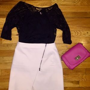 Tops - Black lacy top